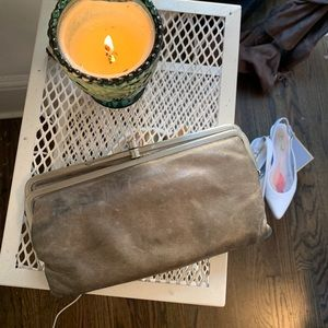 BOHO LEATHER WALLET CLUTCH